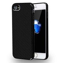 Тонкий Углеродного Волокна Текстура Мягкая TPU Silicone Case For Apple iPhone 6 6 S 7 Плюс Защита Задняя Крышка Для iPhone 7 Телефон Case Капа