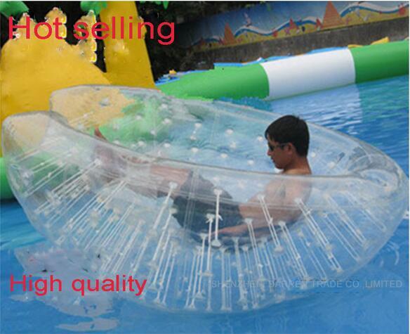 Pusė zorbo kamuoliuko plaukiojanti pripučiama vandens rutulio žaislas Dameter 2,5m 100% naujas aukštos kokybės pripučiamas pusvalandis