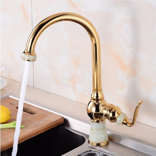 360 Degree Swivel Jade Brass Kitchen Mixer Cold and Hot Kitchen Tap Single Hole Water Tap Kitchen Faucet Free Shipping 38cm tall new arrival tall bathroom sink faucet mixer cold and hot kitchen tap single hole water tap kitchen faucet torneira cozinha