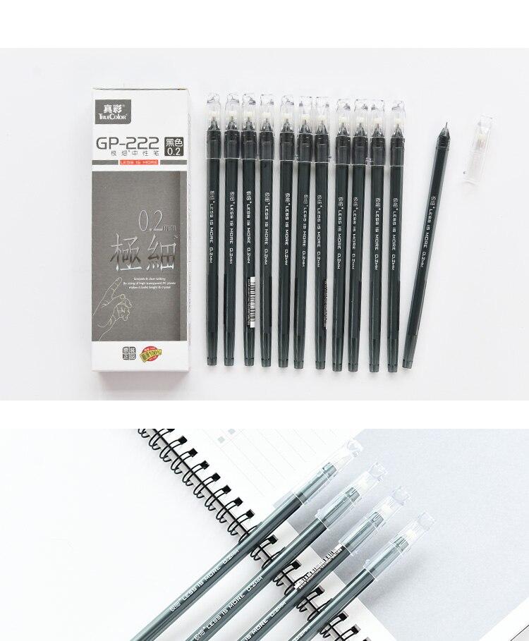agulha tinta preta gel canetas student study