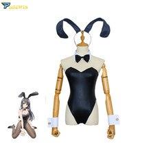 Seishun Buta Yarou Wa Sakurajima Mai Sexy Bunny Girl Maid Dress Uniform Outfit Anime Cosplay Costumes