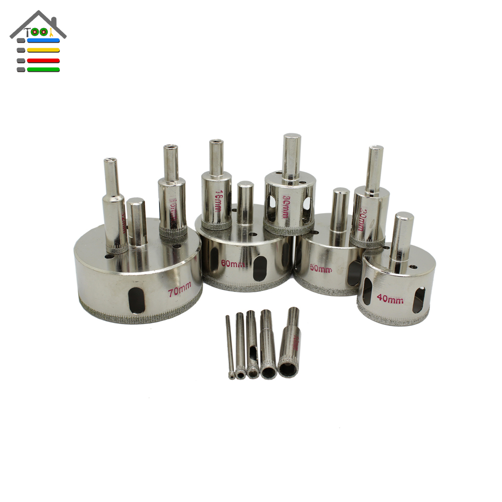 New 14pc 3mm to 70mm diamond coated drill bit tile glass marble new 14pc 3mm to 70mm diamond coated drill bit tile glass marble tile granite ceramics hole saw metal opener cutter bits in drill bits from tools on dailygadgetfo Images