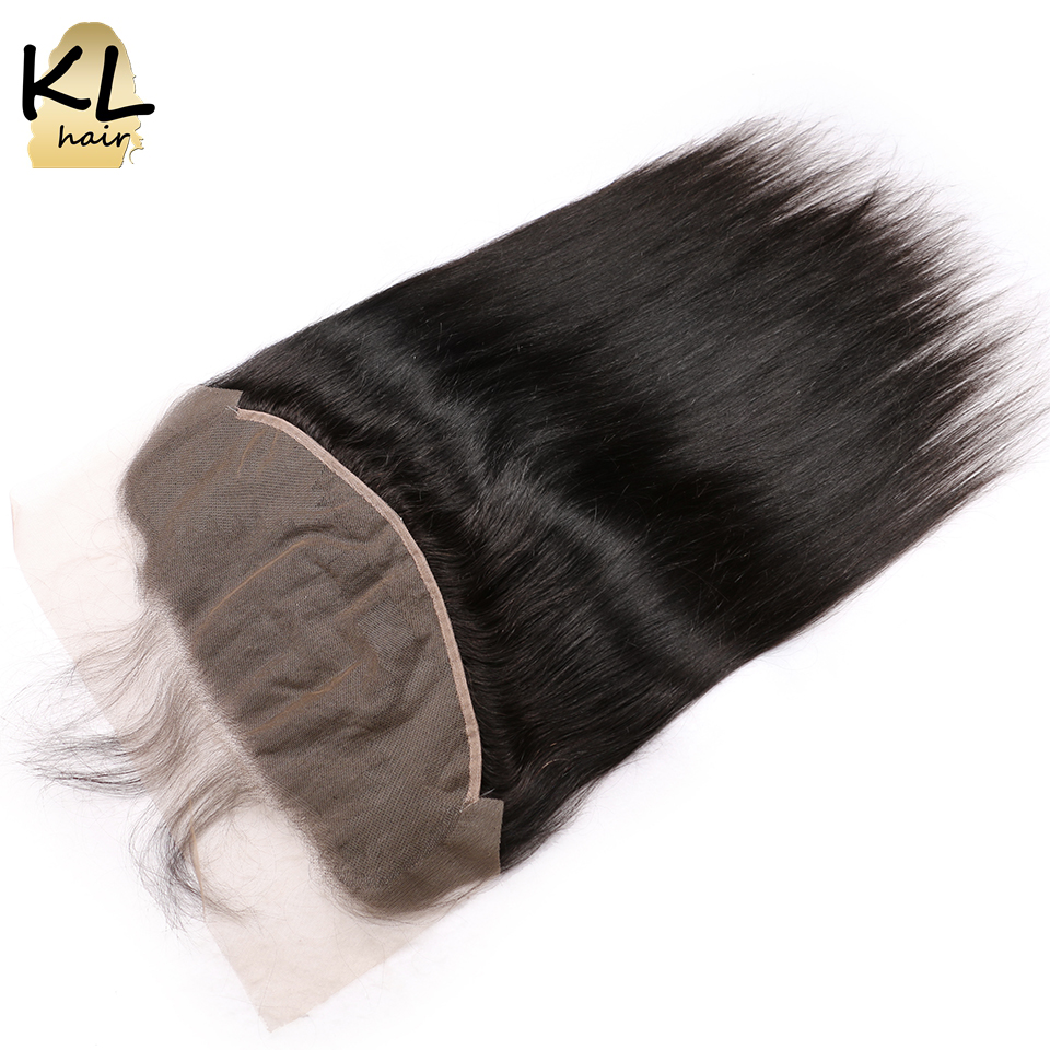 KL Hair Pre Plucked Straight 13x6 Ear To Ear Lace Frontal Closure With Baby Hair Brazilian