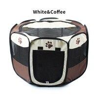 Nylon dobrável prático cão gato casa canil cercadinho gaiola octogonal tenda ao ar livre respirável para cães gatos animais de estimação suprimentos cerca