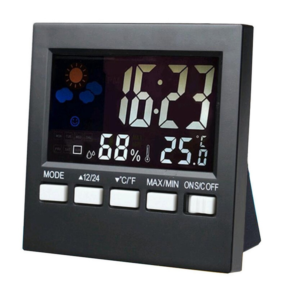 Adeeing Fashion New Multifunction Electronic Thermometer and Hygrometer with Alarm Clock Weather Station