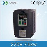 7.5KW 10HP 400 Гц VFD инвертор, преобразователь частоты однофазный 220 В вход 3 фазы 380 В выход 18A для 7.5HP двигателя