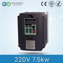 7.5KW 10HP 400 HZ VFD инвертор, Частотный преобразователь однофазный 220 v вход 3 фазы 380 v Выход 18A для 7.5HP двигателя