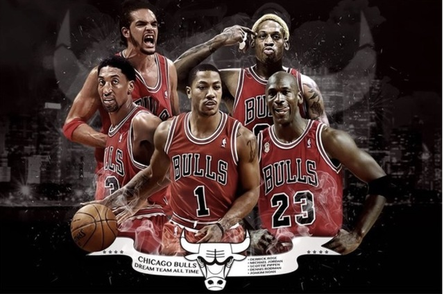 ec84ed5ce07 Custom Chicago Poster Michael Jordan Sticker Scottie Pippen Mural  Basketball Wallpaper Rodman Rose Wall Stickers #1409
