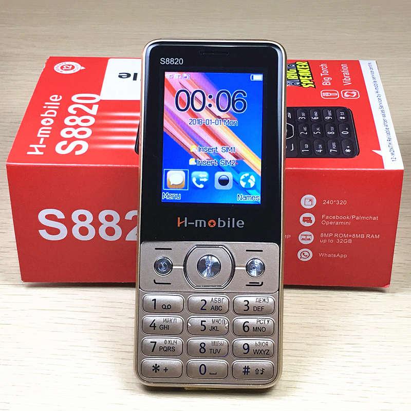 2.4 écran Russe clavier clé gsm téléphones push-bouton mobile téléphone pas cher téléphone chine Téléphones Cellulaires d'origine H-mobile S8820