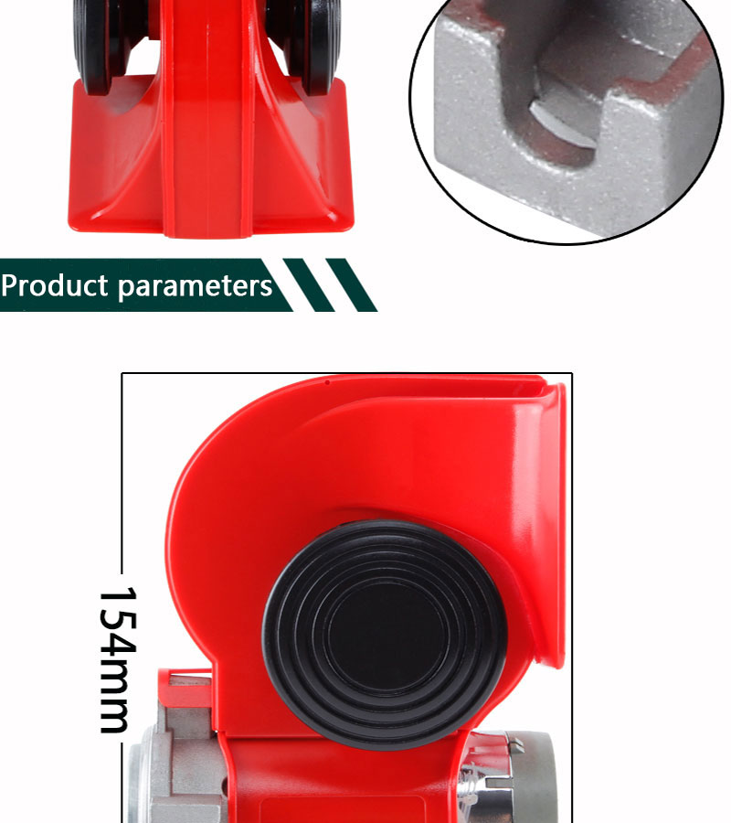 High Super GZHAOER Loud Car Motorcycle Truck 24V Red Compact Dual - Auto Replacement Parts - Photo 3