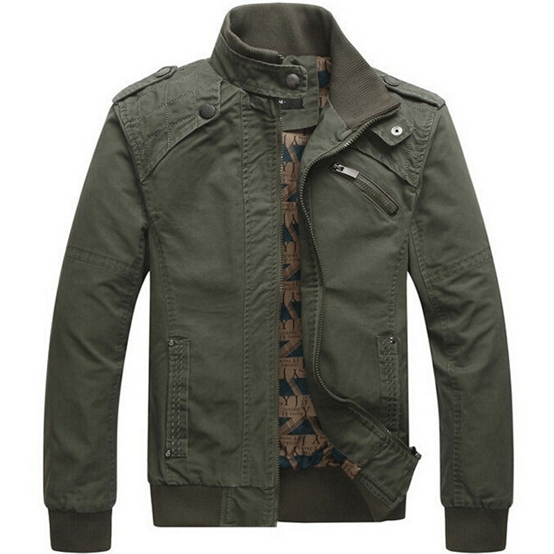 Hot Jacket Casual men's jacket cotton washed coats Army Military Outdoors Stand collar Outerwear jaqueta masculina Coat parka