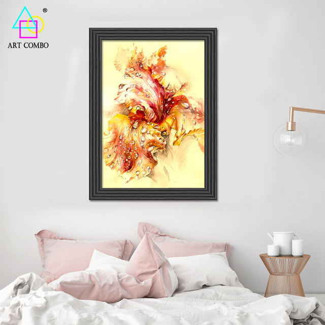 Abstract HD Artwork Painting Beautiful Flowers Drawing Home Decor ...