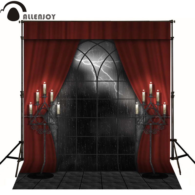 Allenjoy photographic background Lightning candle Halloween haunted house photo backdrops for sale photography high quality life size scary severed head party decoration haunted house halloween props