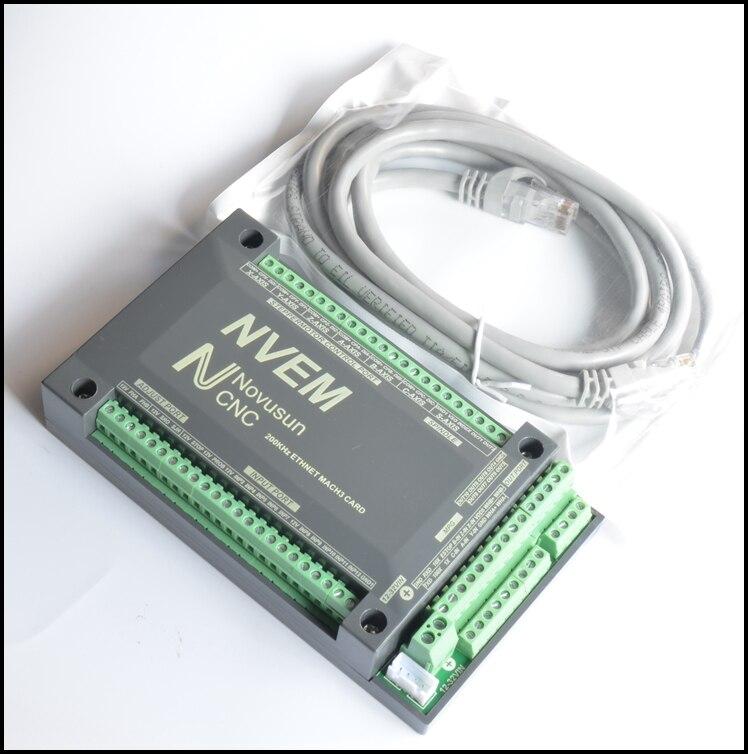 6 axes CNC 200 khz ETHNET Internet Mach3 Carte Contrôleur de moteur Pas À Pas De PWM NVME