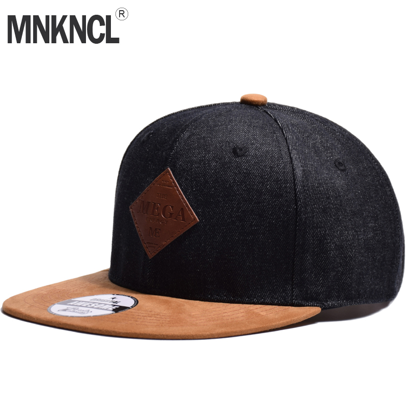 MNKNCL High Quality   Baseball     Cap   MEGA Embroidery Brand Flat Brim Snapback   Cap   Fashion Hip Hop   Cap   and Hat For Men and Woman