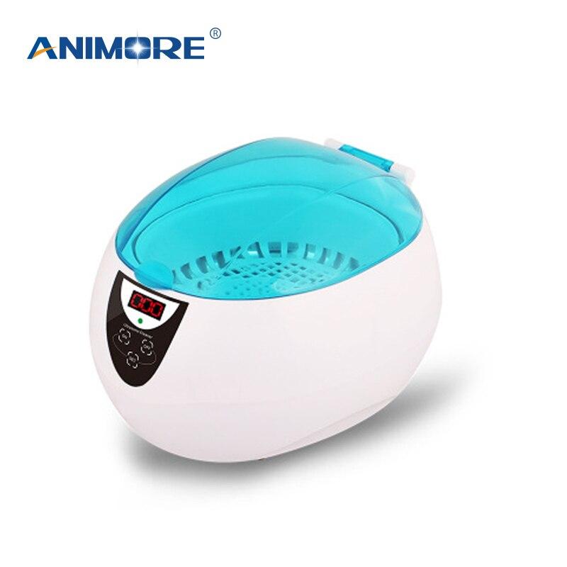 ANIMORE aspirateur de bain à ultrasons automatique nettoyeur à ultrasons Portable pour lunettes bijoux montre Machine de nettoyage