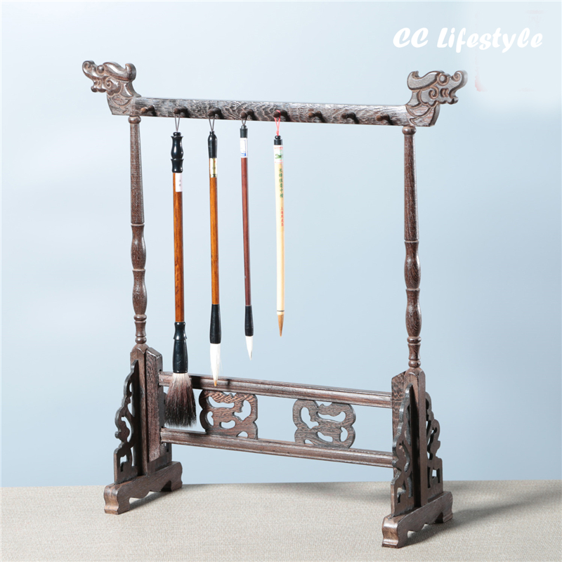 Excellent Quality Chinese Calligraphy Brushes Pen Shelf Chinese