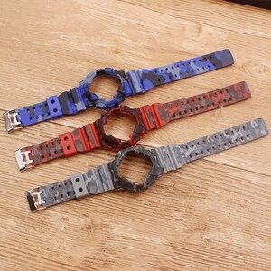 Image 3 - Watch Accessories Camouflage strap For G SHOCK GA 110 100 GD 120 Men Womens Watch Strap