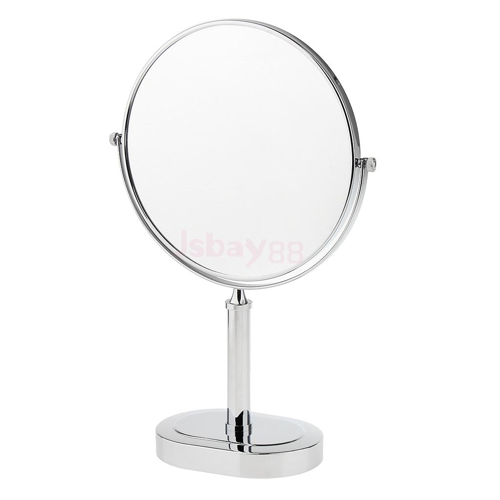 8 Inches Stainless Steel Tabletop Double Sided Free Standing Vanity Shaving  Make Up Mirror For Shower ...