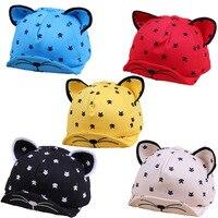 High Quality Baby Hat With Ears Beard New Animal Cat Cartoon Kids Baseball Hat Summer Baby