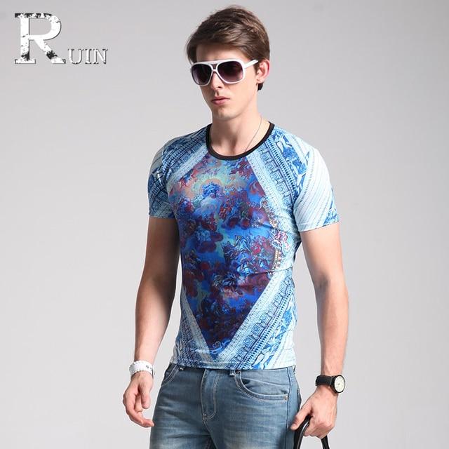 04596b00b2034 2017 Hip hop street style New Fashion men odzież męska lato koszulka  młodzieży Krótki rękaw 3D
