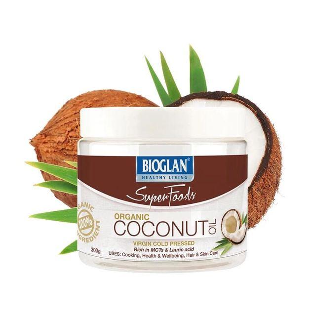 Bioglan Súper virgen pura, prensado en frío de Aceite De Coco Orgánico Salud de La Piel pérdida de peso Adecuado para Vegetarianos, Veganos Kosher
