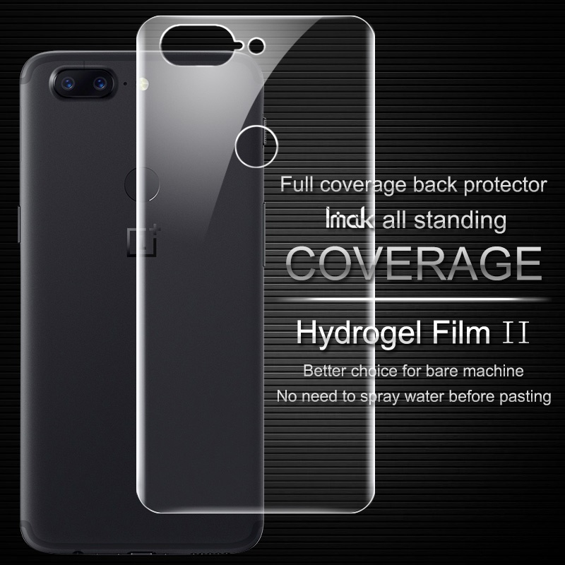 IMAK For OnePlus 5T Soft Clearer Hydrogel Film II Full Cover Back Protector For OnePlus 5T
