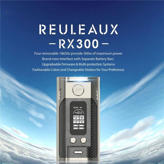 100% Original Wismec Reuleaux RX300 Reuleaux RX300w 18650 Caja Mod Serie RX Con Grandes OLED Mod Más Nuevo Mod de Wismec pantalla