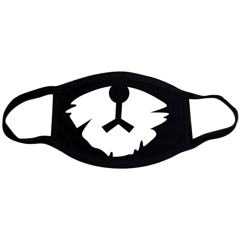 1Pc Personality Fashion Cotton Breathable Unisex Mouth Mask Windproof Anti-Dust Face Mouth Mask Mouth Cover For Women Men