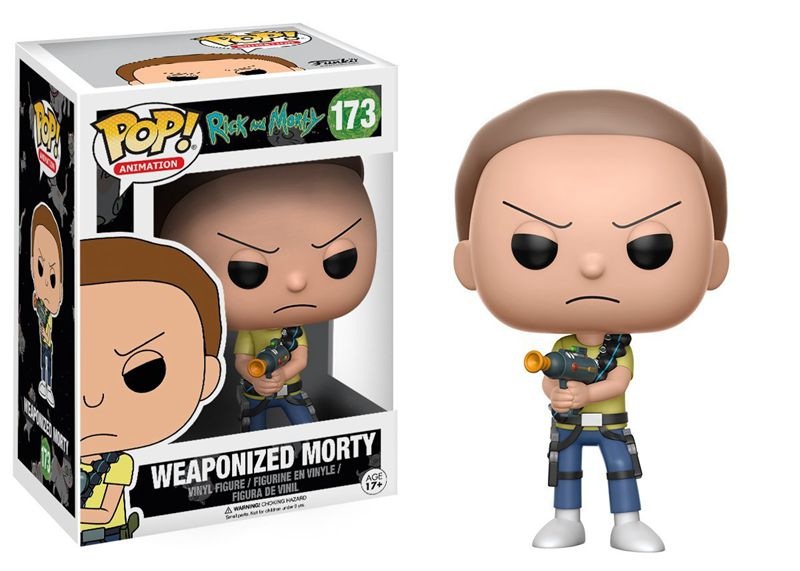 Funko pop Official Rick and Morty - Weaponized Morty Vinyl Action Figure Collectible Model Toy with Original Box