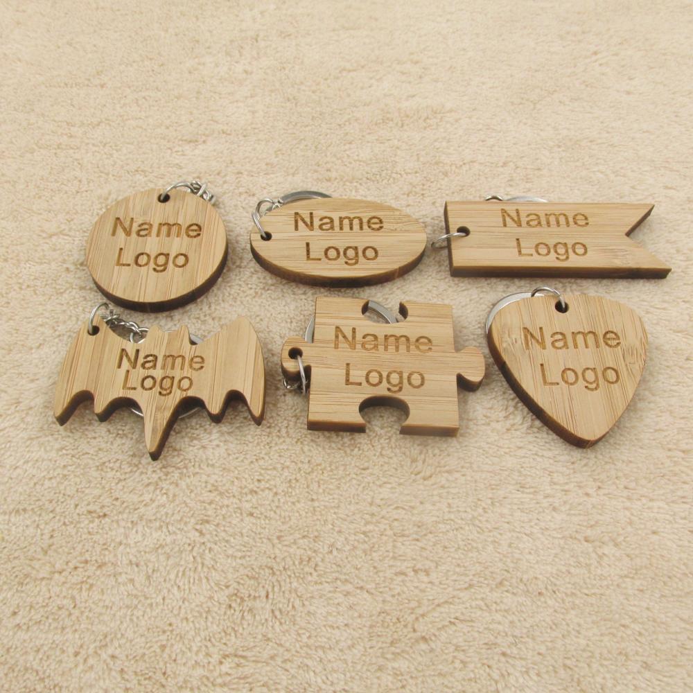 261498 руб персонализированные индивидуальный деревянный брелок построить свой собственный логотип имя брелок бамбук деревянные выгравированы