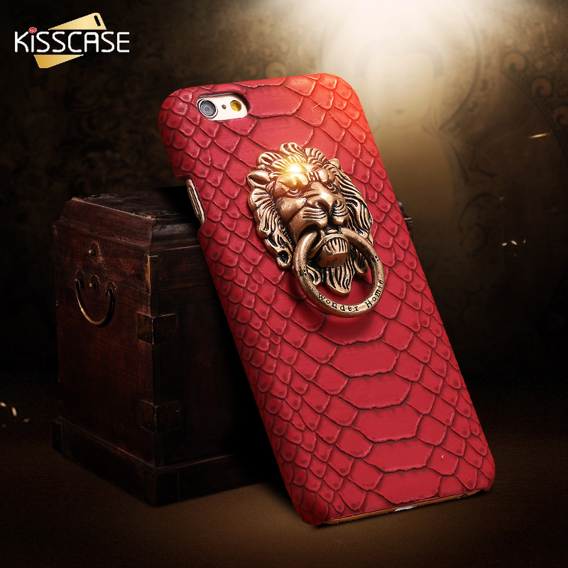 For iphone 7 Plus Cover Sexy Snake Skin Phone Case For Apple iPhone 6 6S For iphone 6 6S Plus 3D Lion Head Stand Co
