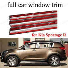 For K-ia Sportage R Sill Strip with column Exterior Car Accessories  Stainless Steel full Window Trim  Car Styling