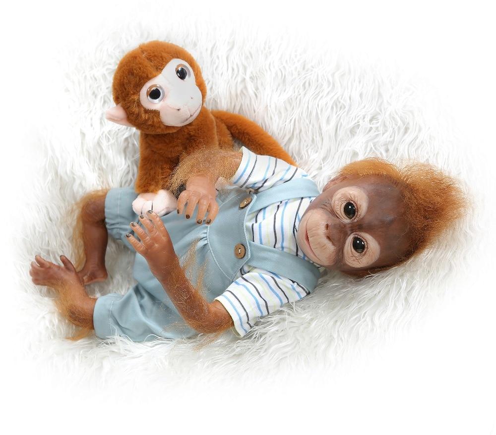 52 cm nouveau singe créatif Silicone bébé poupée 100% Non toxique Reborn bébés réaliste lol poupée pour enfants anniversaire noël bebe cadeau jouet