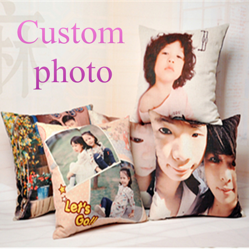 Customize Decorative Cushion Print Your Photo on Pillow Sofa Throw Pillows 45*45cm Wedding Gift Custom photo for cushion