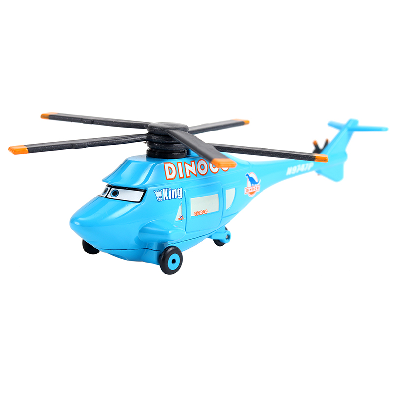 Cars Disney Pixar Cars Dinoco Helicopter The King No.43 Metal Diecast Alloy Toy Car Plane Model For Children 1:55 Loose Brand