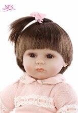NPK Novo 43 cm Silicone Renascer Super Realistas Do Bebê Da Criança Do Bebê Bonecas Do Miúdo Boneca Bebe Reborn Brinquedos Renascer Brinquedos Para As Crianças presentes