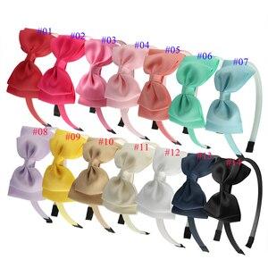 Image 2 - XIMA 14pcs/lot 4 Grosgrain Hair Ribbon Bow Headband Girls Plastic Teeth Hairband Tiaras Party Headband Hair Accessories