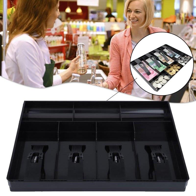 Store Cash Organizer Tray 4 Bills 3 Coins Money Storage Box Cash Tray