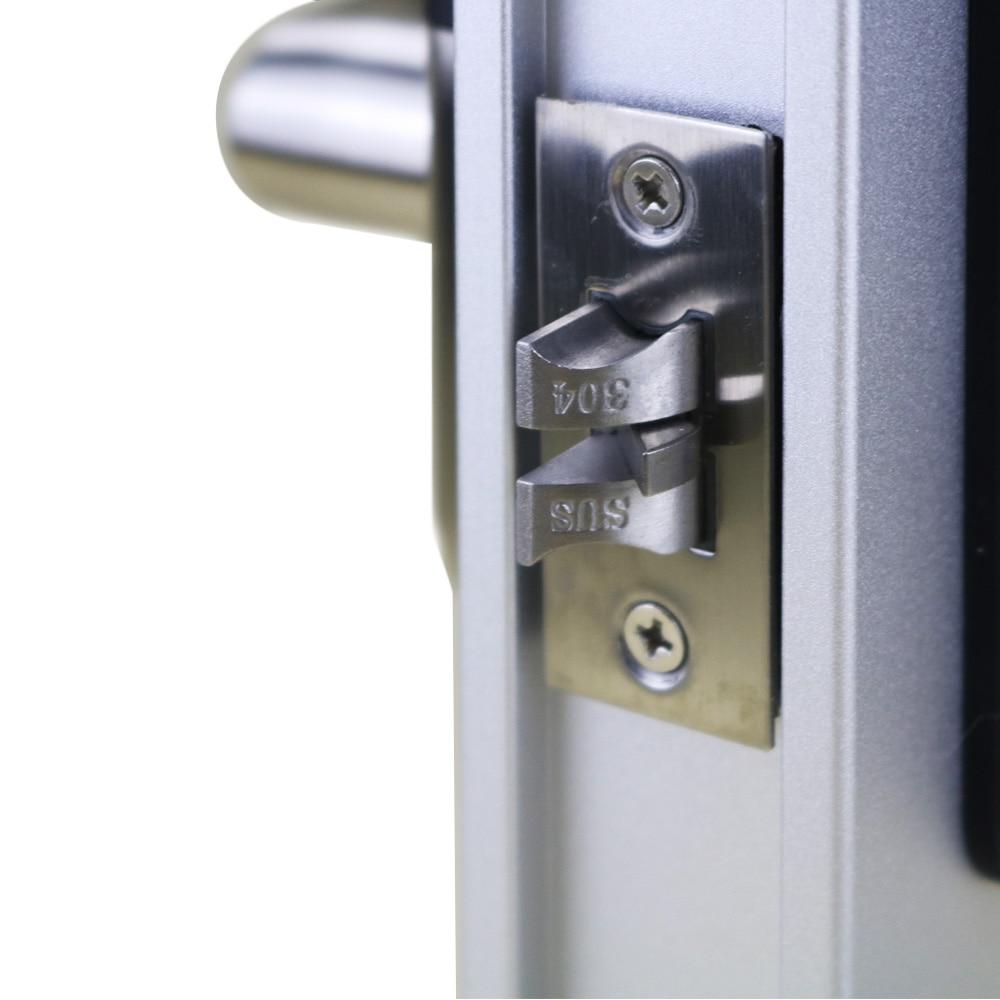 Fingerprint Door Lock unlock by pincode, Card , fingerprint and mechanical Key with 2 cards, 5 keychains, 2 keys