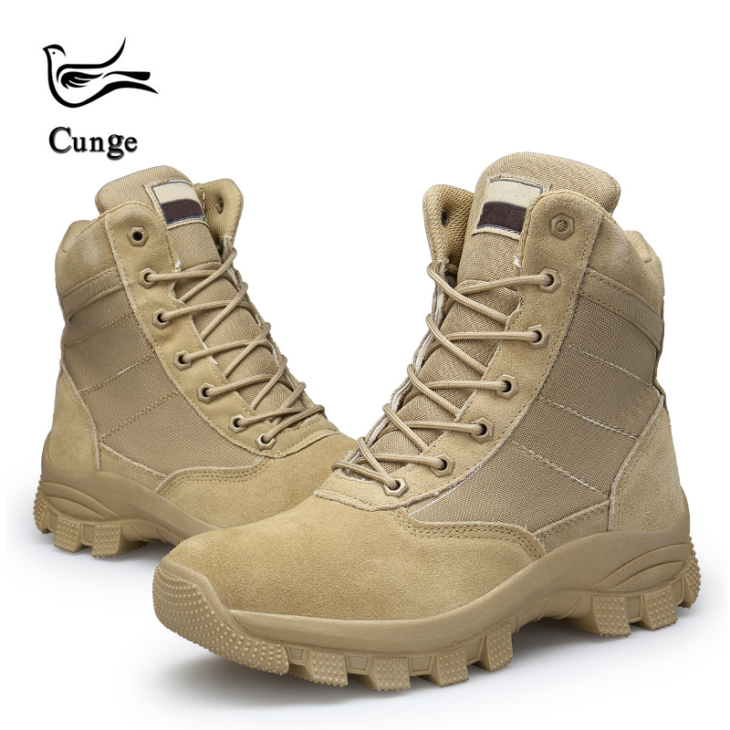 Men Desert Military Tactical Work Safty Shoes SWAT Army Boot Militares Tacticos Zapatos Ankle Combat Boots
