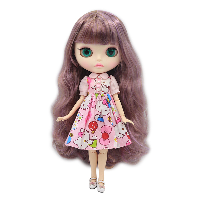 Blyth Nude Doll 1/6 Joint Body New matte face white skin 30cm DIY BJD toys Fashion gift Special Offer with hand group AB