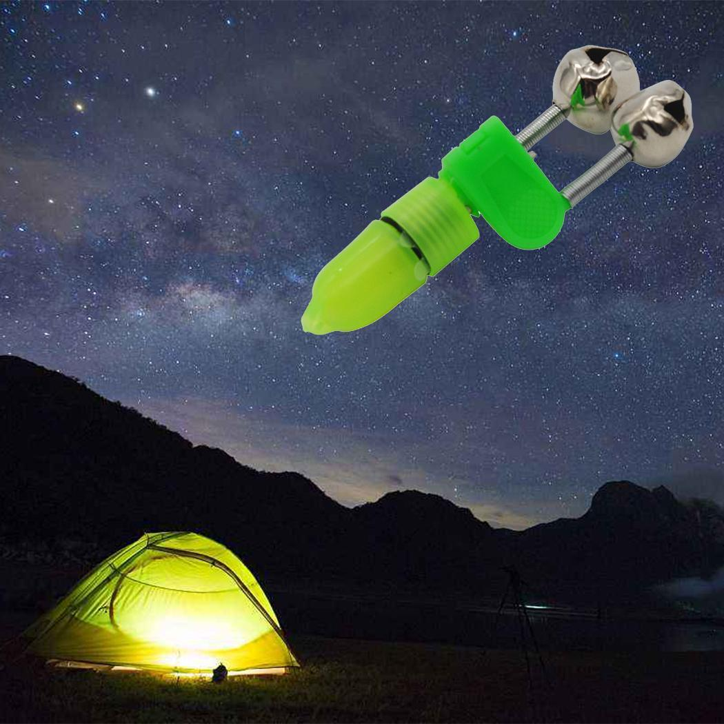 Bite Rod Night Outdoor Fishing Alert Alarm Light Bells LED Strike Tip