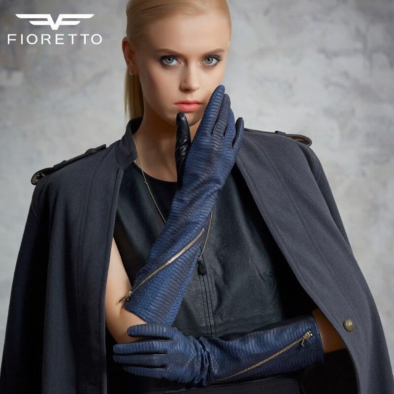 Fioretto Ženy Zimní Rukavice Rukavice Kožené Rukavice Hadí Rukavice Módní Rukavice Termální Rukavice Rukavice