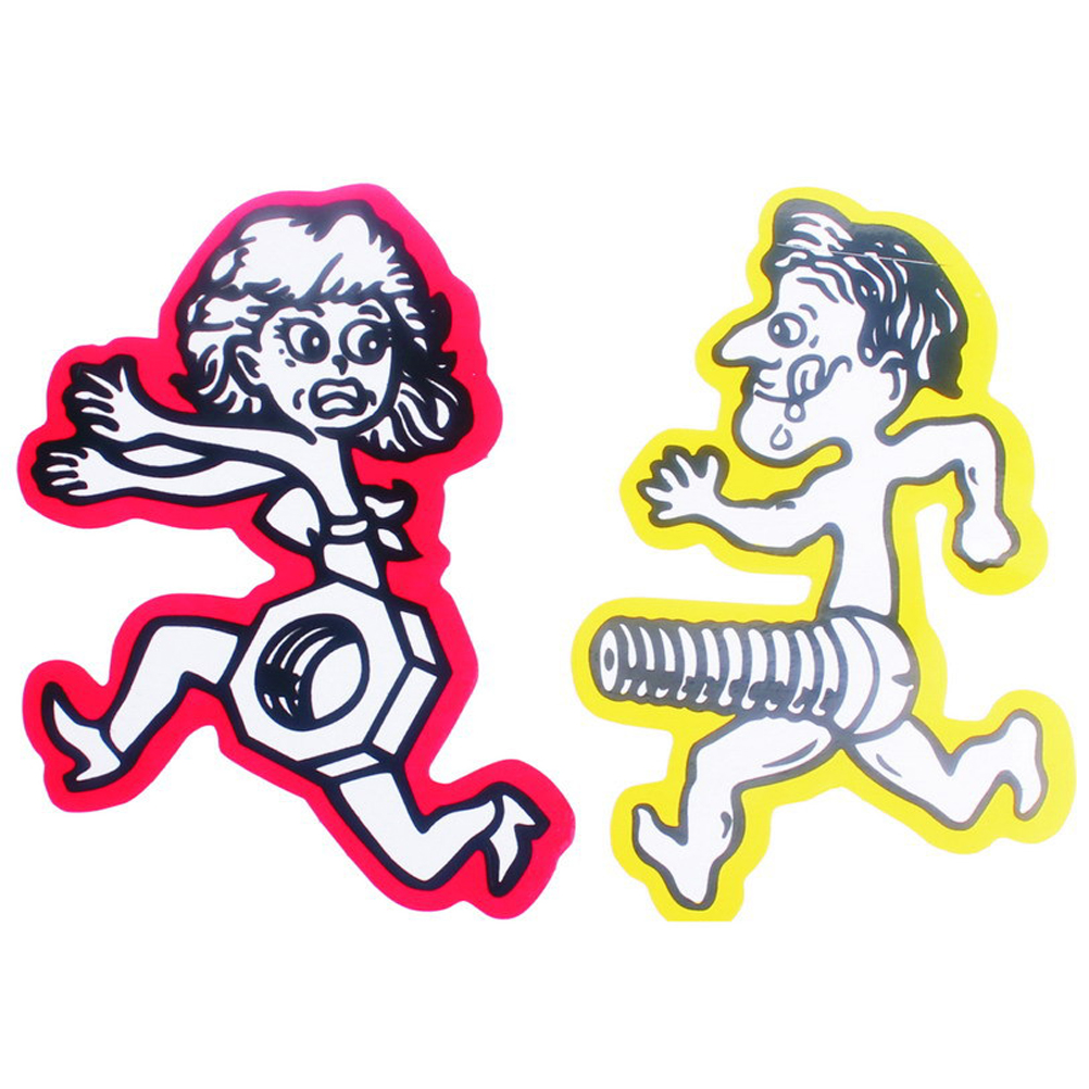 1 x men chase women nuts bolts car sticker personalized funny stickers motorcycle car bumper window sticker red green