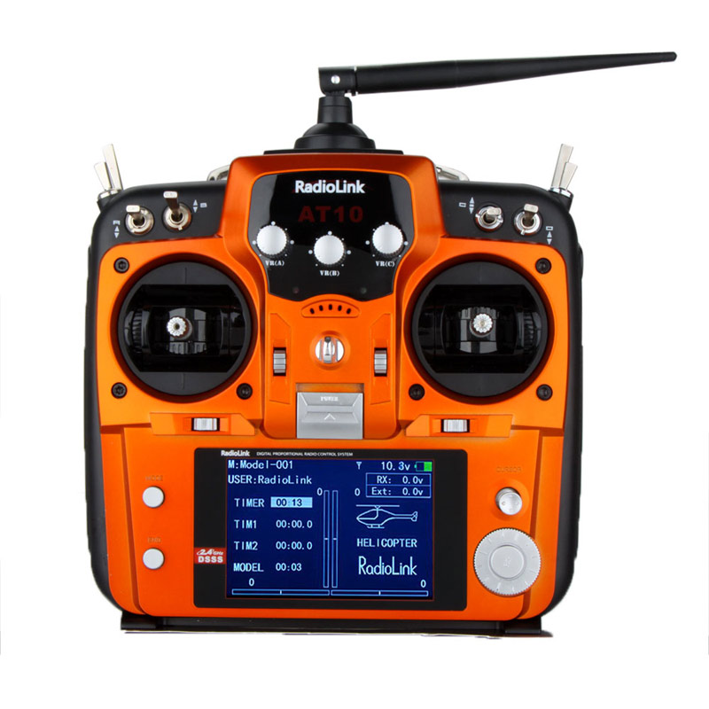 RadioLink AT10 2.4Ghz 10CH RC Transmitter W/ R10D Receiver