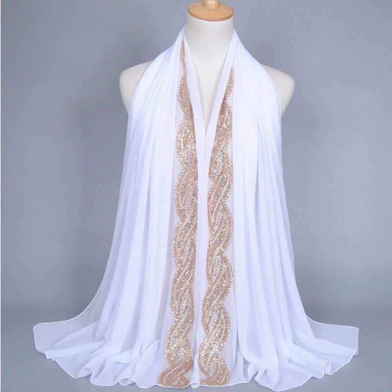 Calidad de Hijab para las mujeres de Color liso cabeza chal para islámica las mujeres pañuelo musulmán de phasmina elegante bufandas