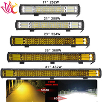 23'' Inch 324W 288W 360W Led Light Bar 12v Amber Color for UAZ Truck SUV 4x4 Offroad Lamps Work Headlights Tractor Led Fog Light