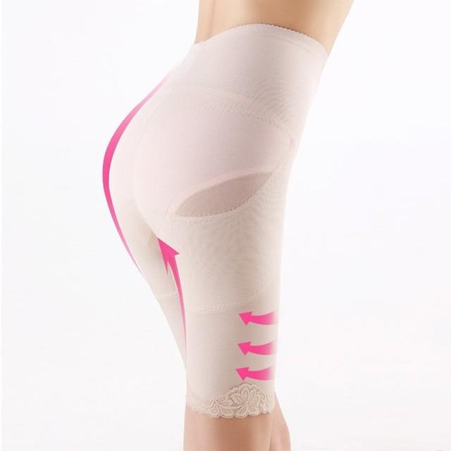 Corrección butt lifter bragas para las mujeres de cintura alta que adelgaza la pierna con quintos pantalones de encaje fajas faja control de abdomen