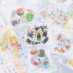 Verschiedene Stil Tier Mini Papier Aufkleber Dekoration DIY Ablum Tagebuch Scrapbooking Label Aufkleber Kawaii Schreibwaren